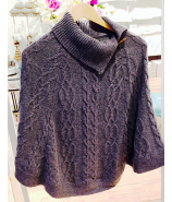 Lambswool poncho. grey. various sizes