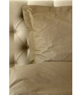 Duvet cover taupe percale woven, 400 TC, Los Angeles