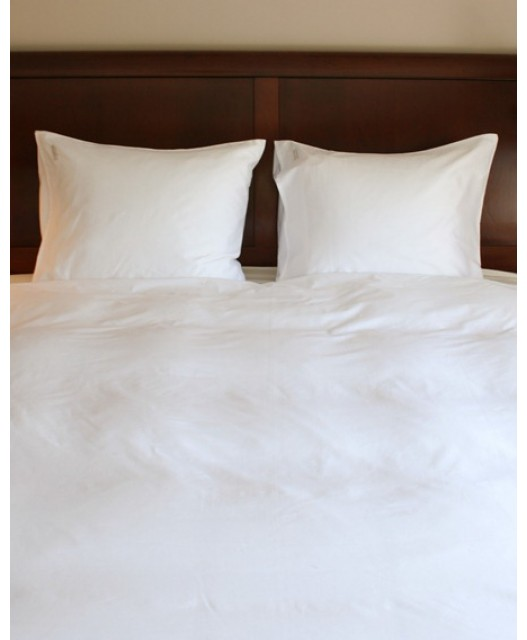 Duvet cover white and ecru Tencel cellulose fibre, St Barth