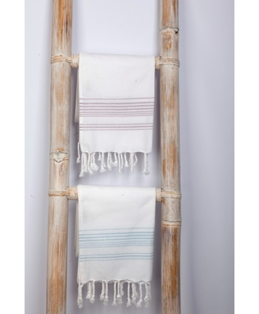 Hamam towel 170 gr, various sizes, white with colour stripes