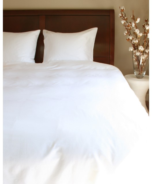 Duvet cover white decorative band, 21 layers, sateen 300 TC, Porto new