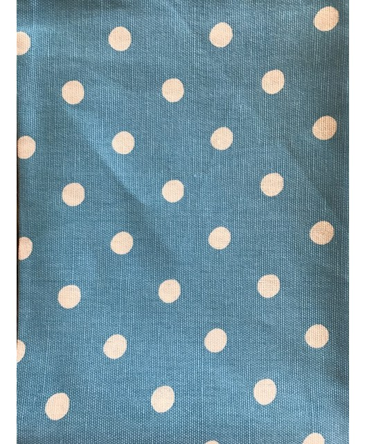 Linen/cotton blend tea towel, 50x70, Taupe with Dots